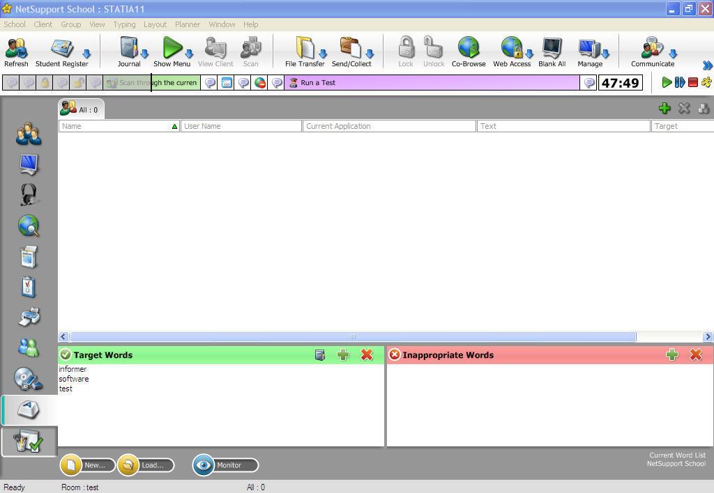 Tutor Console Window