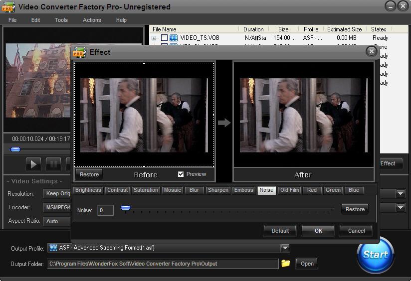 Effects Screen