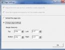 Page settings box