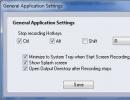 General Application Settings