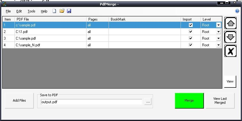 Adding PDF files to be merged into one file