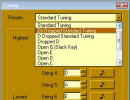 Guitar Power-Tuning menu