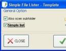 Simple List Dialog