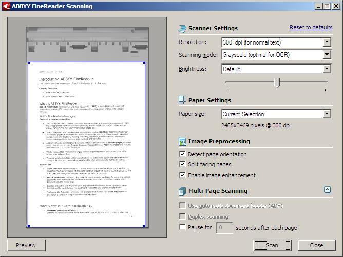 Scanning to Searchable PDF