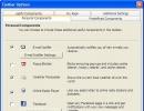 Toolbar Options Window