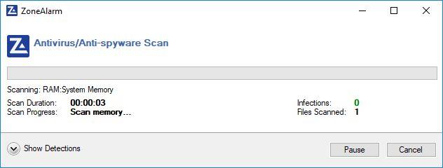Virus scan