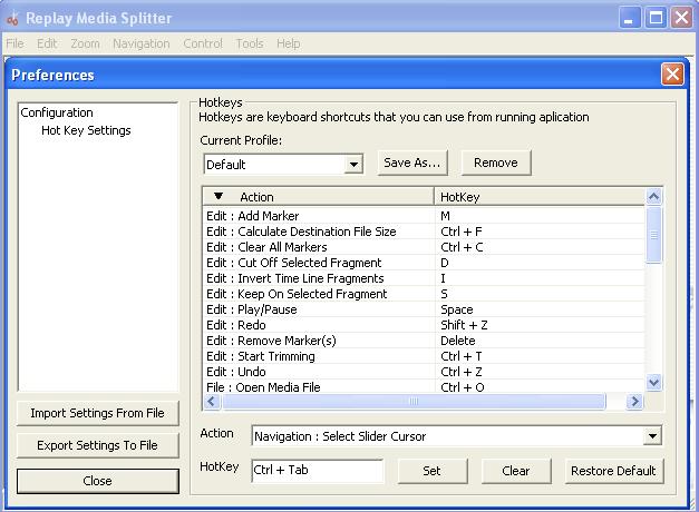 settings