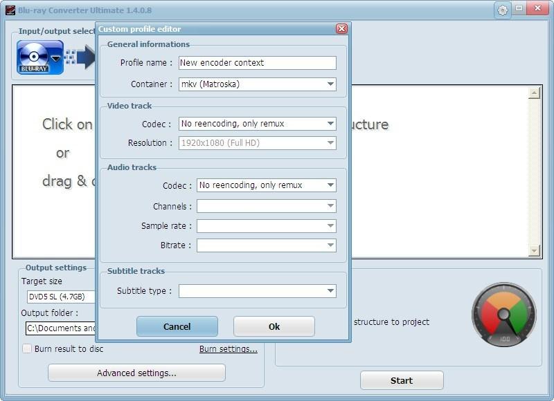 Custom Profile Window