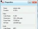 Video properties