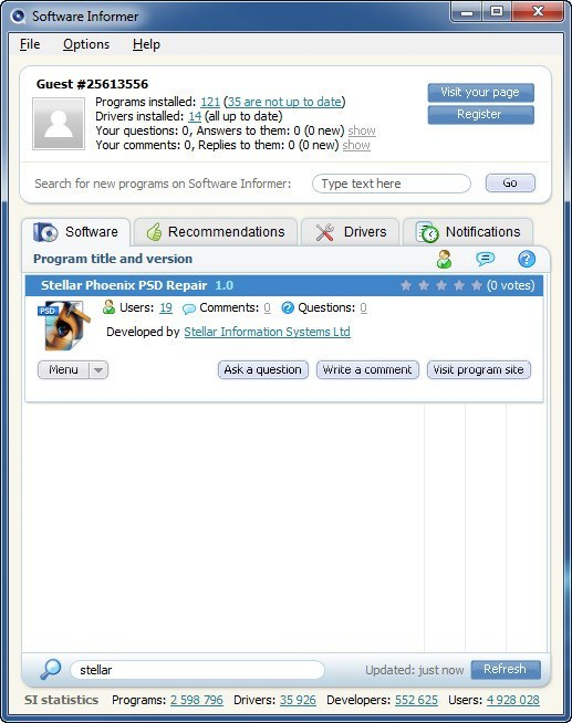 S.I Client Window