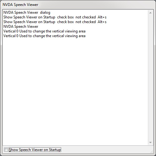 NVDA Speech Viewer