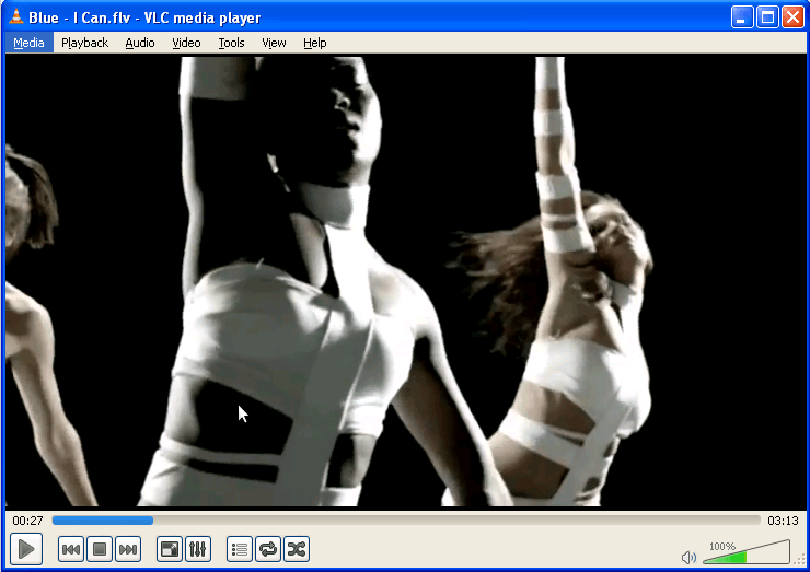 A video file played in VLC media player