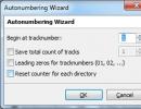 Autonumbering Wizard