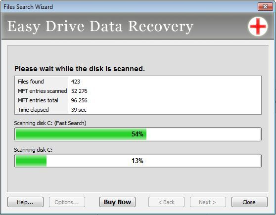 Looking for recoverable files