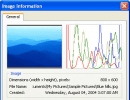 Image information panel