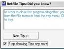 NetFile tips