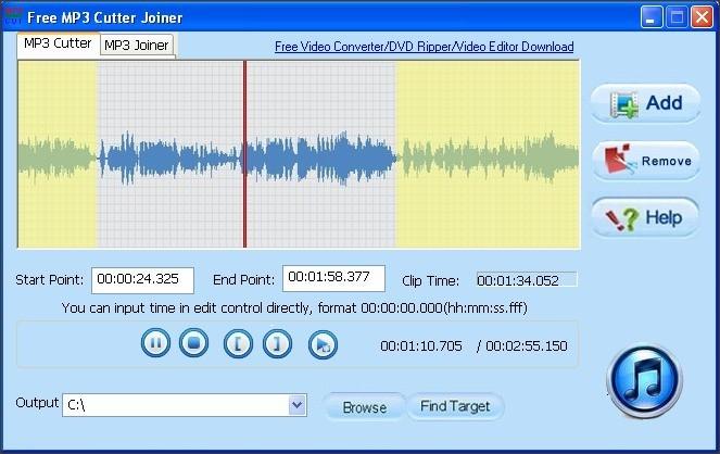 MP3 Cutter Tab