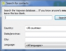Search for Contacts Window