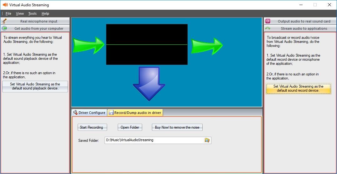 Main Screen - Record audio in driver