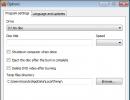 Options Window - Program Settings Tab