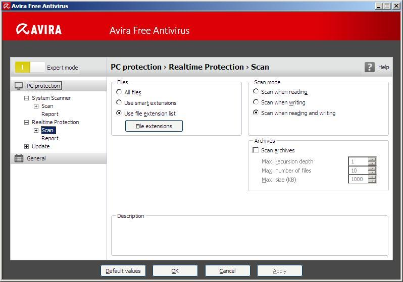 Real-Time Protection Settings