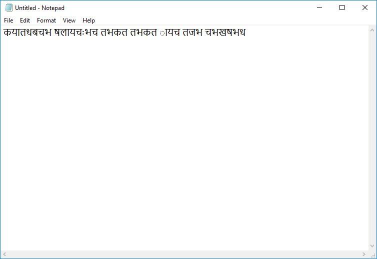 Text written Nepali