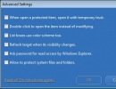 Advanced Settings Window