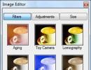 Filters Window