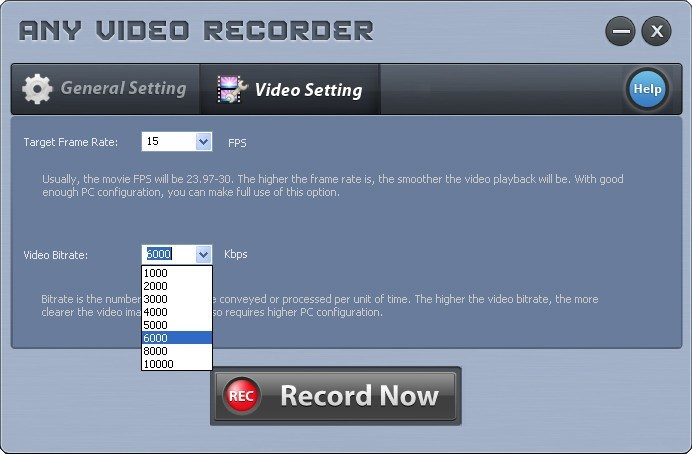 Video Bitrate