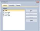 Customization Window