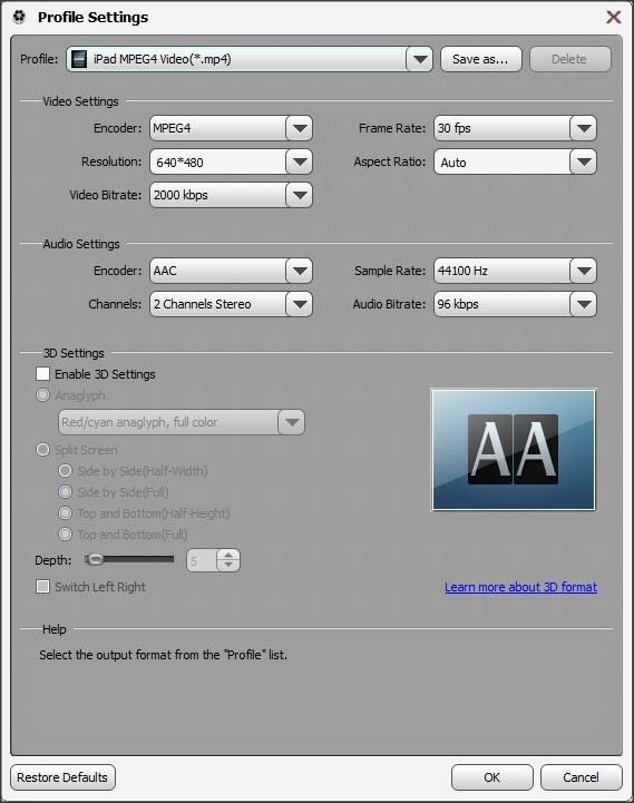 Output Profile Customization