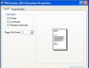 Printer Properties - Layout Tab