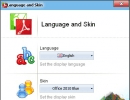 Language and Skin Window