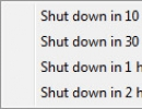 Selecting Time For Shut Down