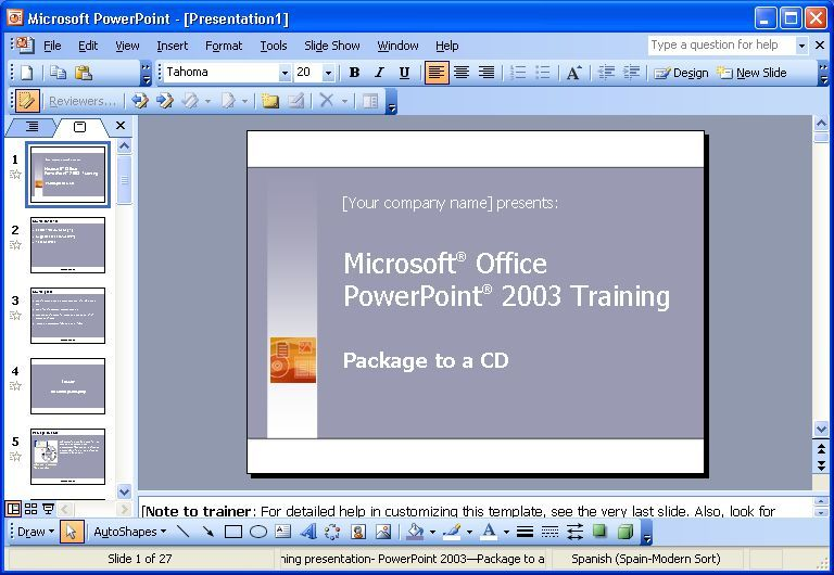 MS Powerpoint 2003