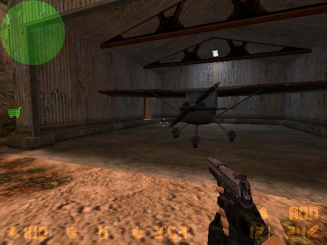 Screenshot of an airstrip map