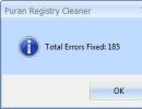 Fixed Errors Window