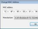 Changing the MAC Address