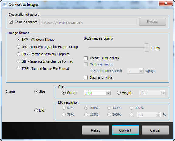 Convert To Image Options