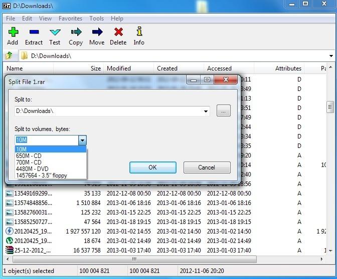 Splitting a file