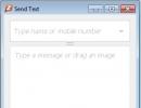 Send Text Window