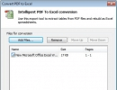 Converting PDF To Excel