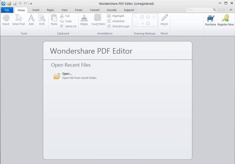 Open a new PDF screen