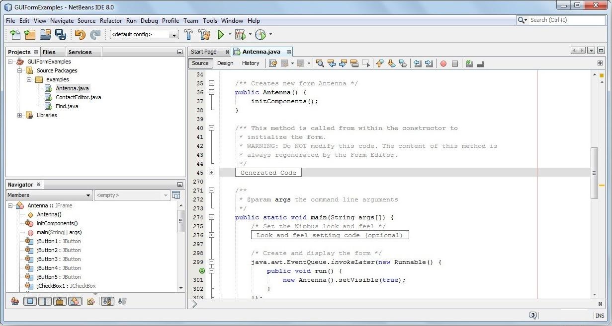 NetBeans Editor Window