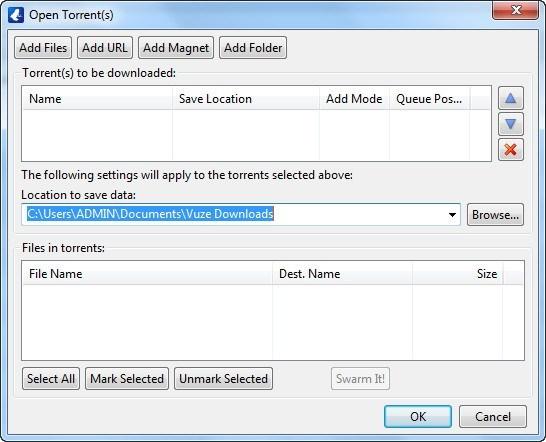 Open Torrent(s)