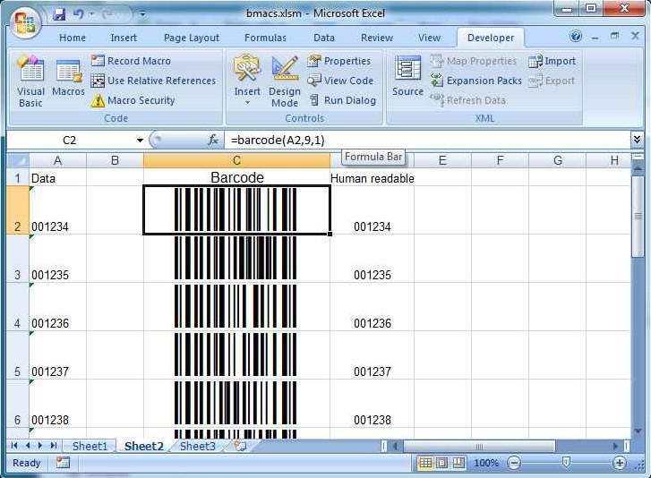Barcode Window