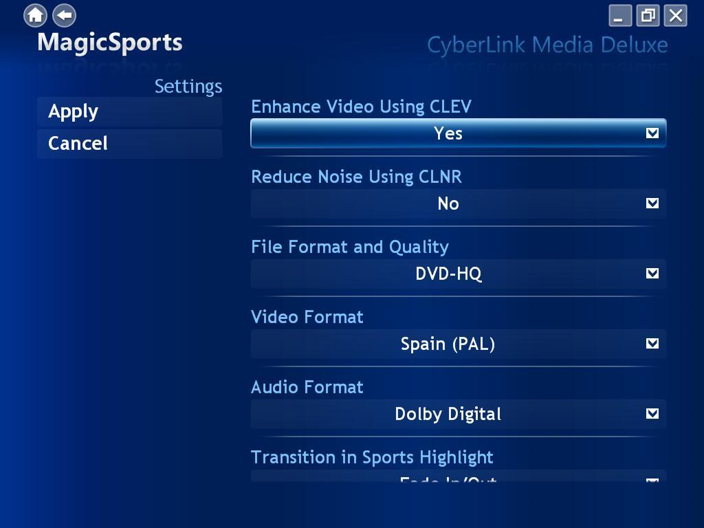 Video & Audio settings
