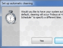 Set Up Automatic Cleaning