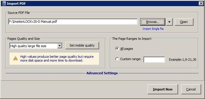 Import PDF File