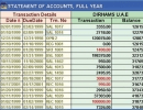 Account Statement Window